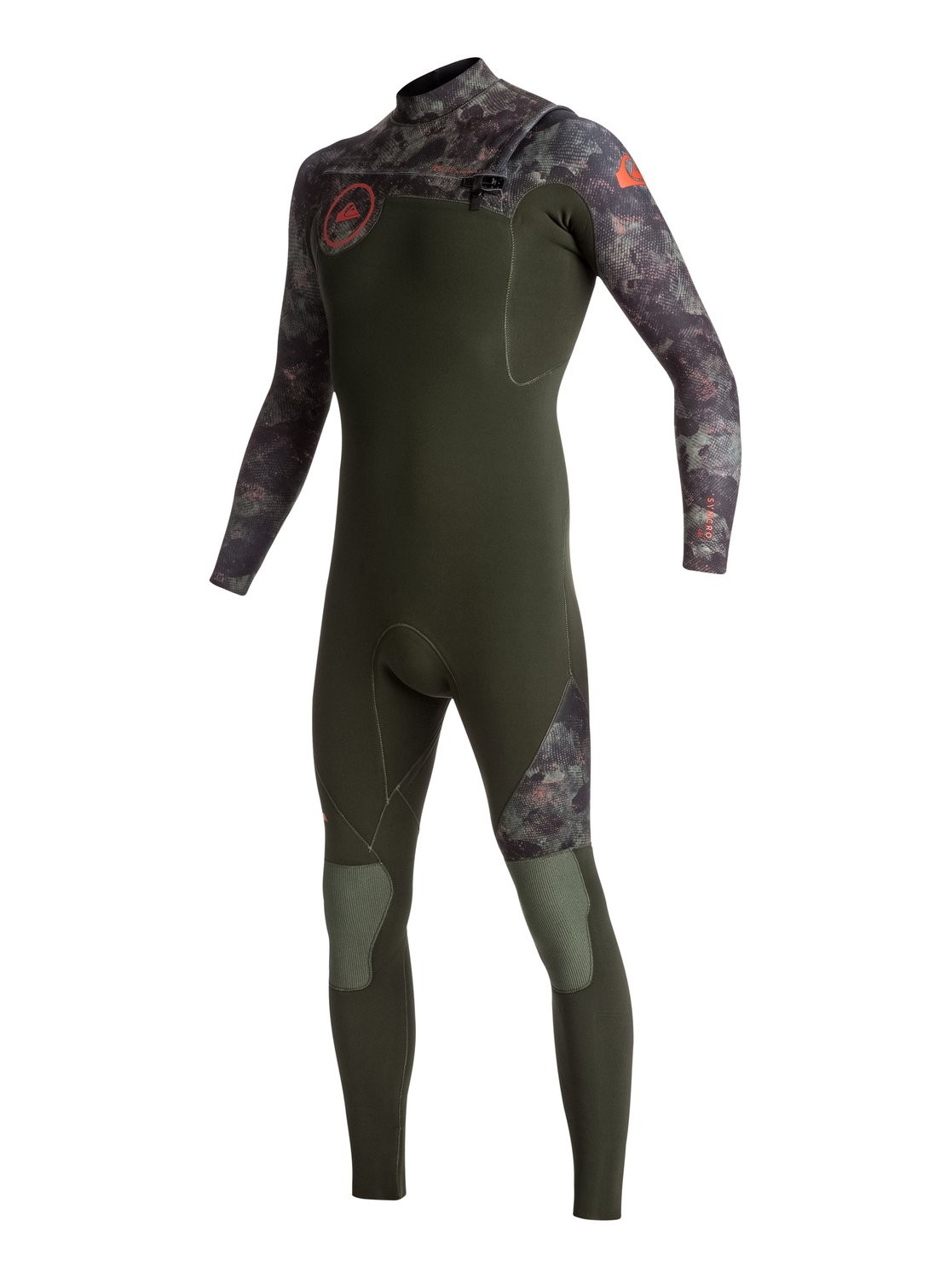 Quiksilver Combinaison 43 Zipcamouflage Syncro Mm De Gbs Surf Front j5AcL4Rq3