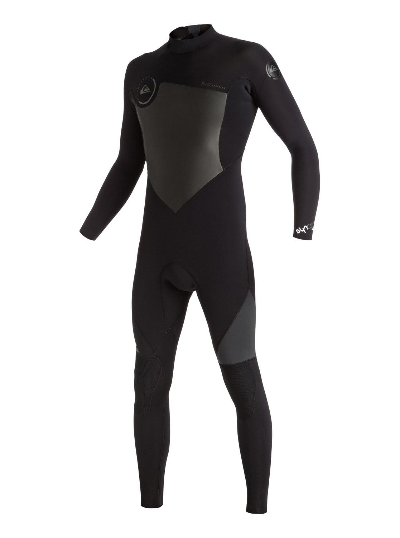 combinaison de surf quiksilver syncro 5 4 3 mm back zip noire. Black Bedroom Furniture Sets. Home Design Ideas