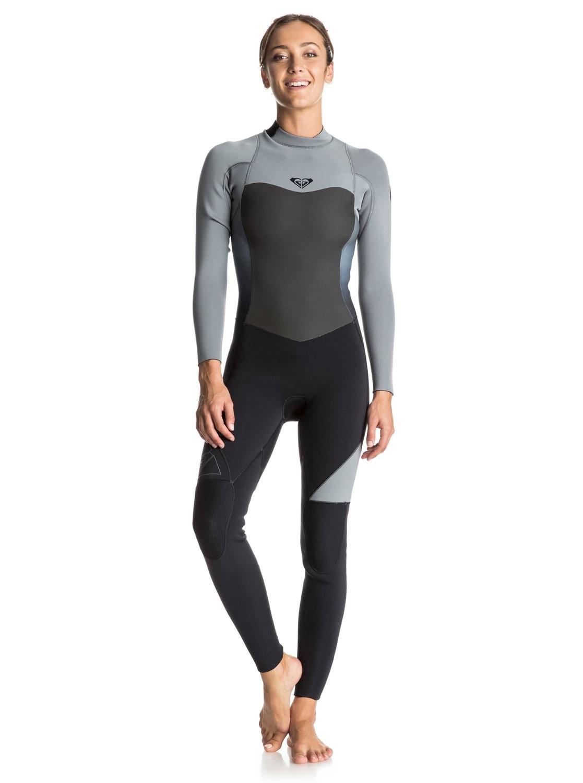combinaison de surf roxy syncro 5 4 3 mm back zip grise. Black Bedroom Furniture Sets. Home Design Ideas