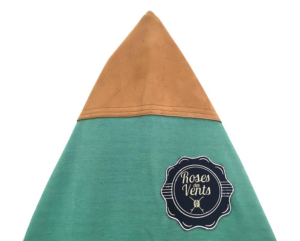 Housse de surf roses des vents 6 39 2 vert bleu la housse for Housse de planche de surf