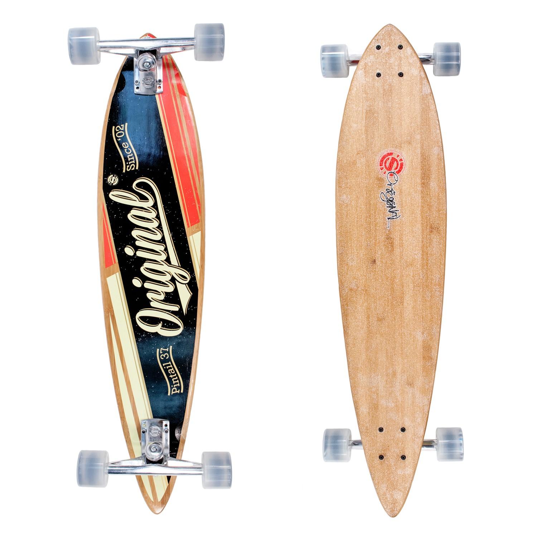 Longboard Original Skateboards Pintail 37 Bamboo