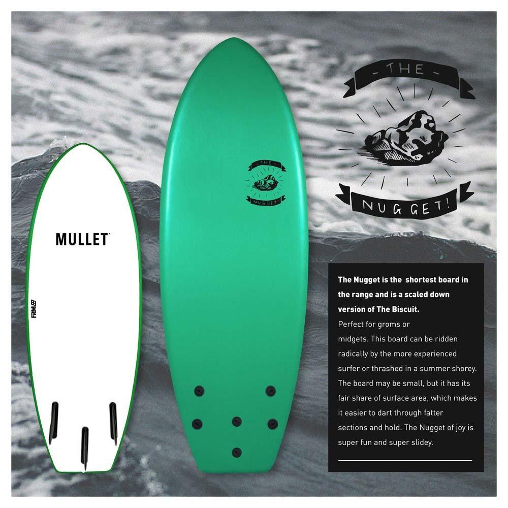 planche de surf en mousse mullet the nugget 4 39 6 blanc blanc. Black Bedroom Furniture Sets. Home Design Ideas