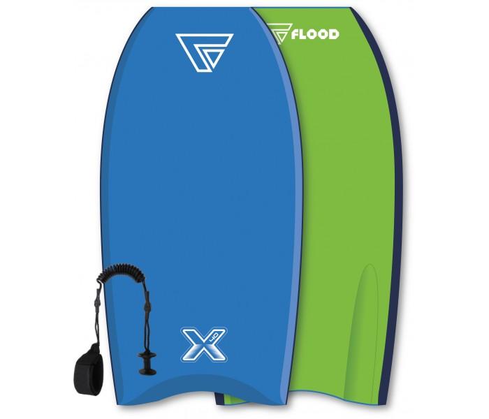 Bodyboard Flood Dynamix 40 (Bleu/Vert) + leash