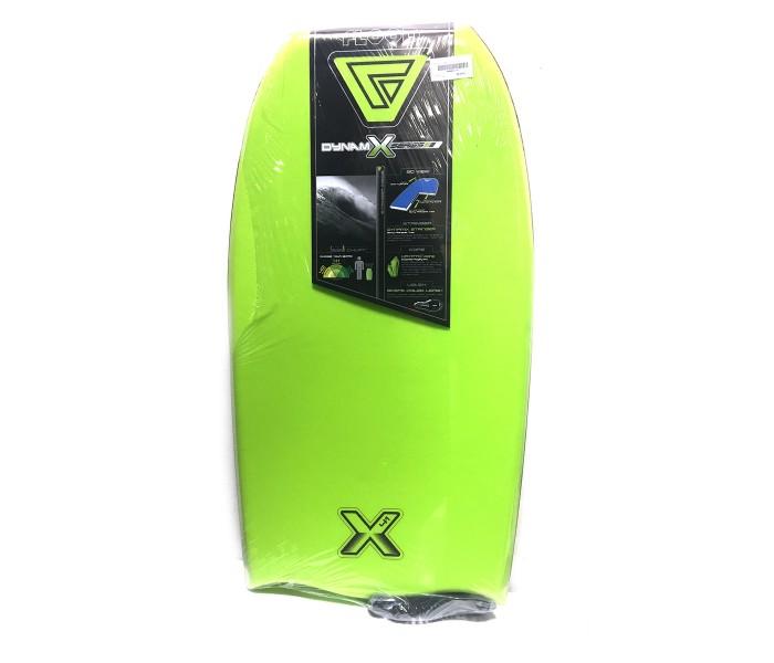 Bodyboard Flood Dynamix 41 (Vert/Rouge) + leash