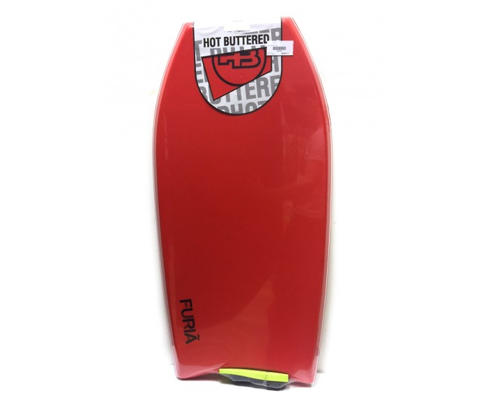 Bodyboard HB Hot Buttered Furia 42.5 EPS (Rouge) + Leash