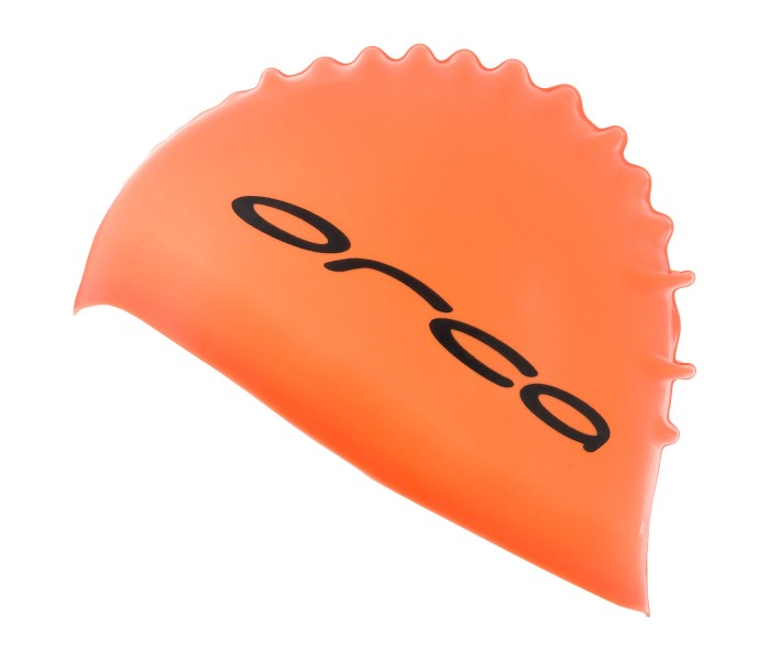 Bonnet de natation et de triathlon en silicone Orca (Orange)