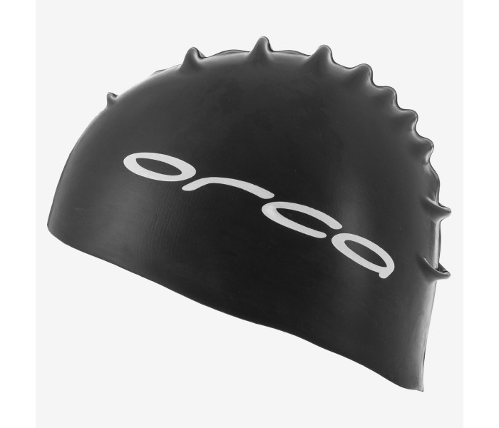 Bonnet de natation et de triathlon en silicone Orca (Noir)