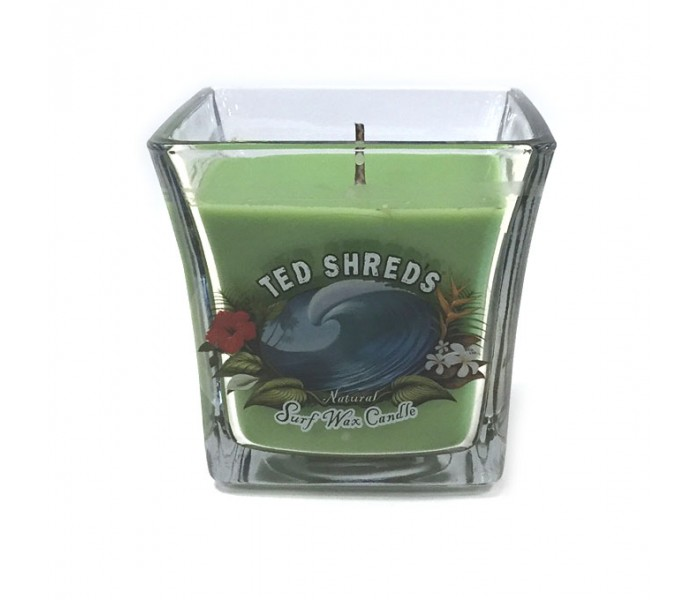 Bougie Wax Ted Shred's Natural Jar Green (16oz)