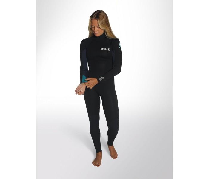 Combinaison de surf Femme C-Skins Surflite 5/4/3 mm (Noir/Bleu)