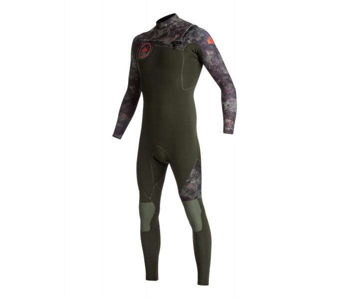 Combinaison de surf Quiksilver Syncro 4/3 mm GBS Front-Zip (Camouflage)