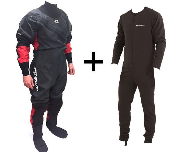 Combinaison étanche sèche Typhoon Ezeedon 3 Premium + sous-vêtement