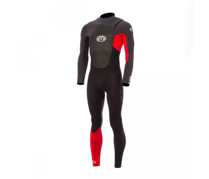 Combinaison de surf Animal Lava 5/4/3 mm Front-Zip (Rouge)
