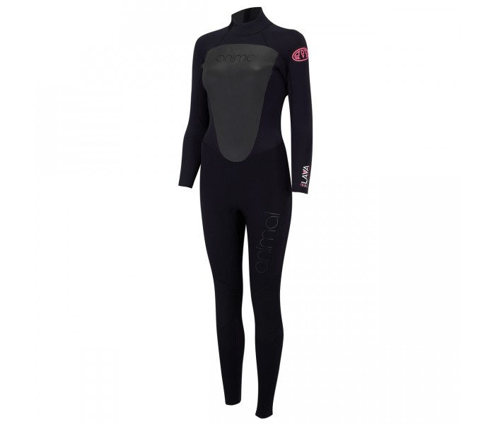 Combinaison de surf femme Animal Lava 4/3 mm (BackZip)