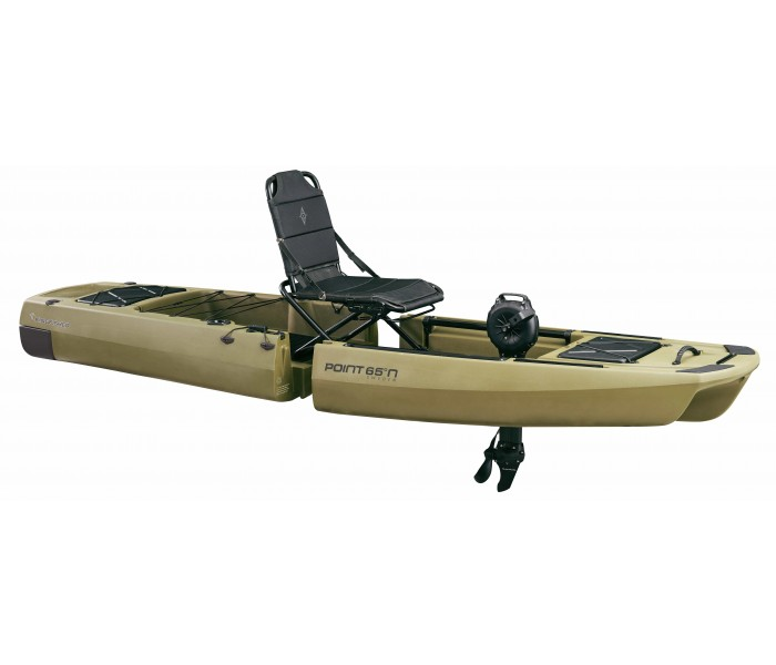 Kayak de pêche à pédales démontable Point 65 KingFisher + Impulse Drive