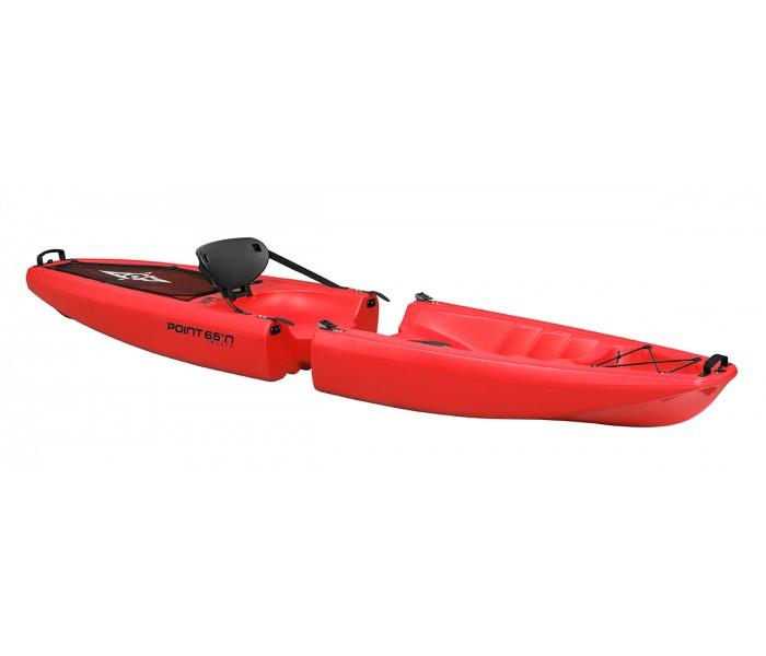 Kayak démontable Point 65 Falcon 1 place (Rouge)