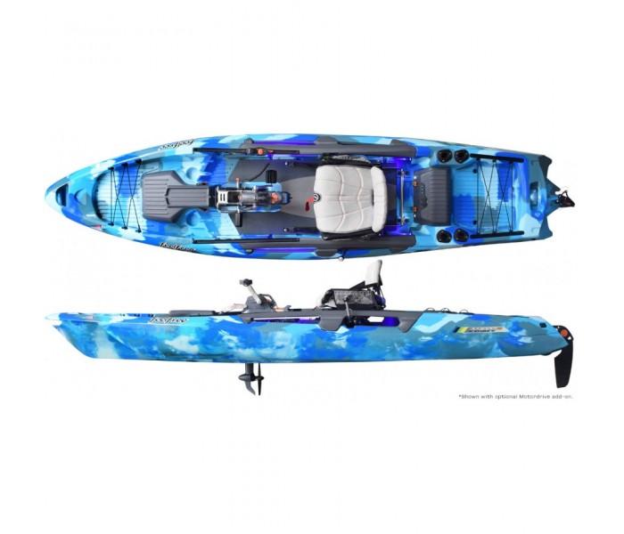 Kayak à pédales de pêche Feelfree Dorado (Ocean camo) + Overdrive inclus