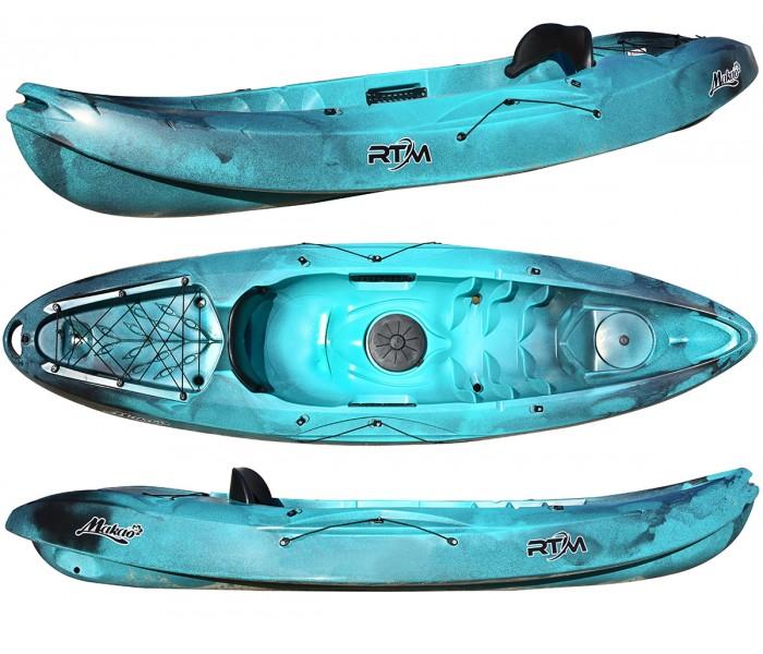 Kayak RTM Makao Confort (Couleur Steel : Vert turquoise et noir)