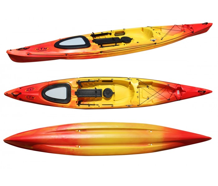 Kayak RTM Rytmo Luxe (Couleur Soleil : Jaune et Orange)
