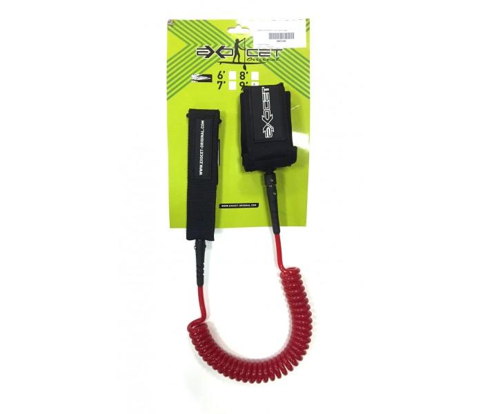 Leash de paddle téléphone 9' (8mm) Rouge