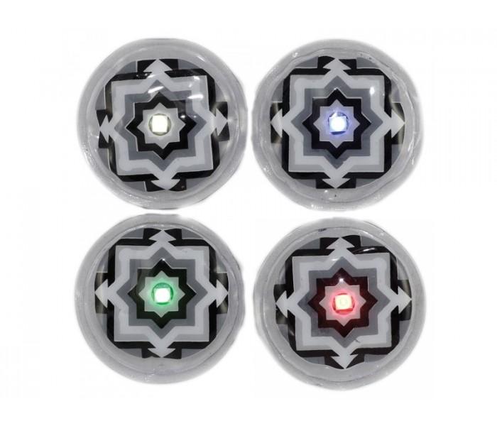 Led à coller LEDKNDY à bouton (vendus par 4) Bleu