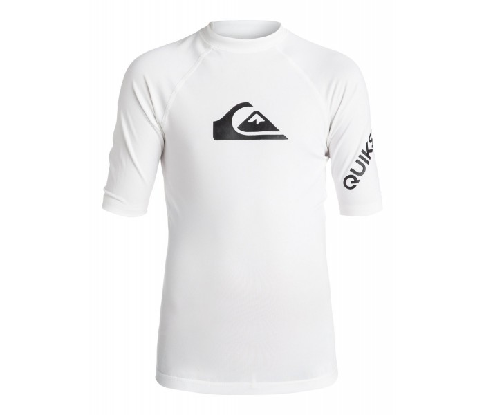 Lycra UV quiksilver All time manches courtes (Blanc)