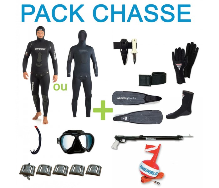 Pack complet chasse sous-marine 7mm
