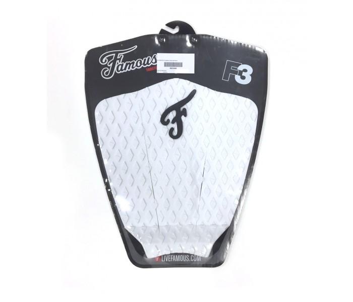 Pad / grip de surf Famous F3 (Blanc)