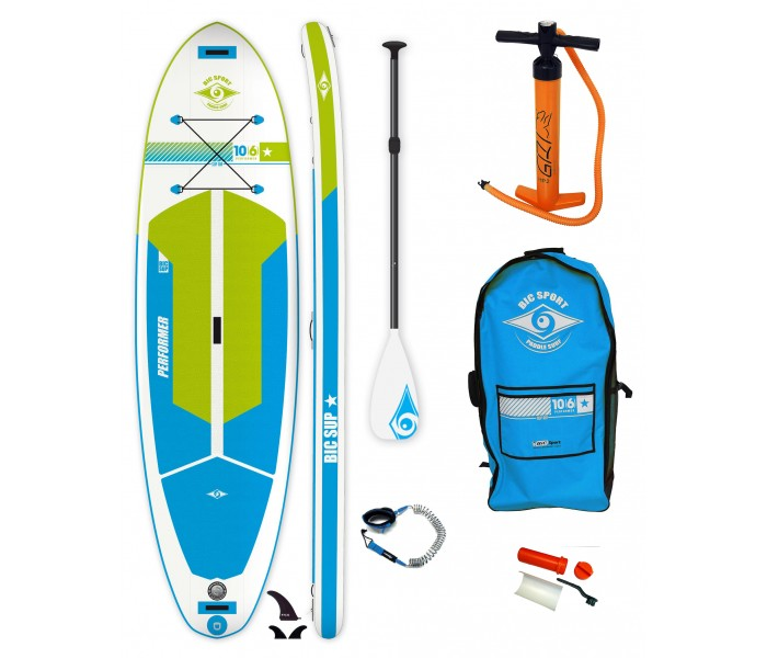 Pack Paddle gonflable Bic 10'6 Performer AIR + Pagaie + Leash