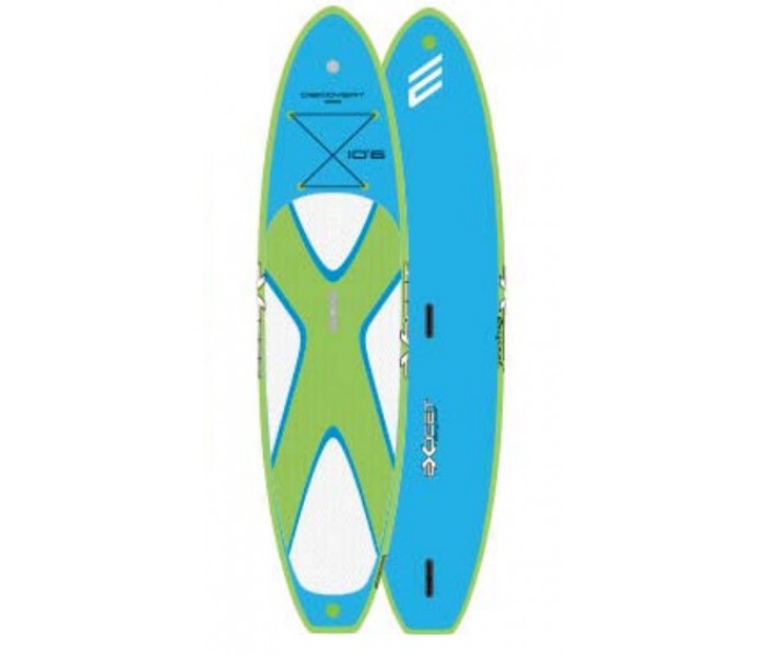 SUP gonflable Exocet Discovery 10'6 (Bleu/Vert)