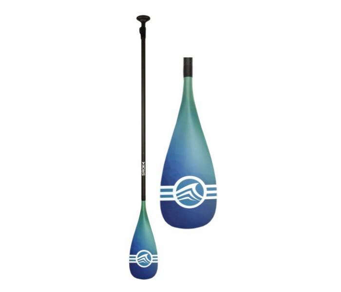 Pagaie de paddle Sroka démontable et réglable (Pagaie 30% carbone) - Bleu