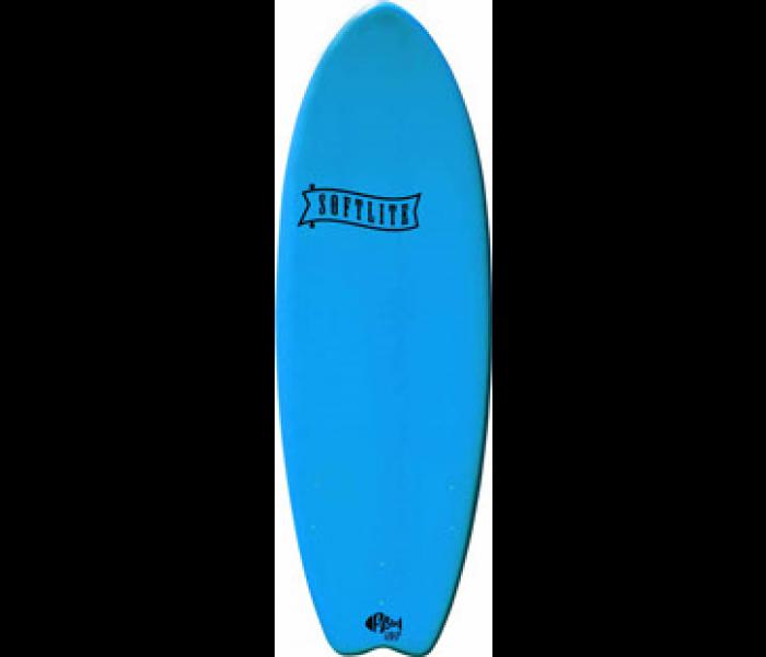 planche de surf en mousse softlite 5 39 2 fish bleu. Black Bedroom Furniture Sets. Home Design Ideas