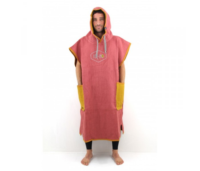Poncho All-in Light Waffle (brick Ocre)