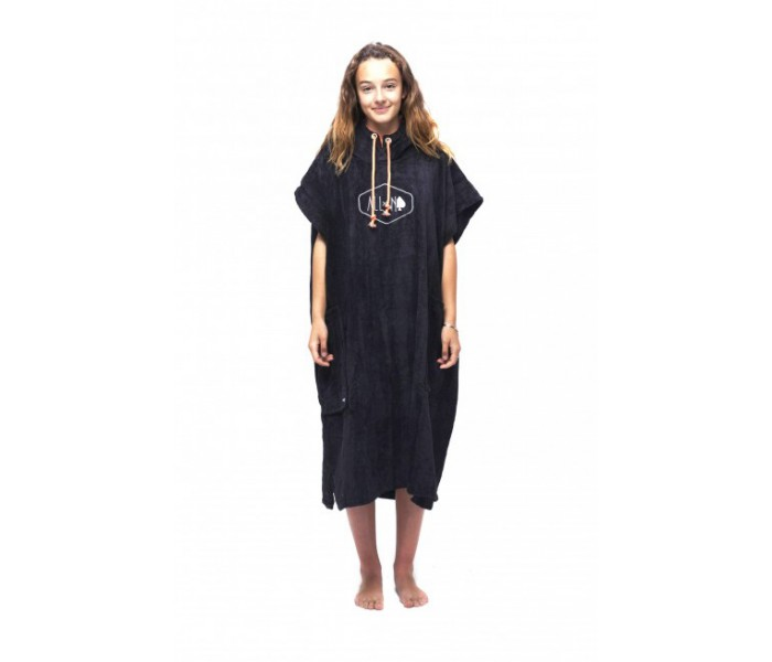 Poncho All-in Classic (Black/Coral)