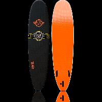 Planche de surf en mousse Surfworx Ribeye mini malibu 7'6 (Noir)
