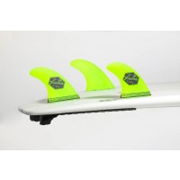 Ailerons de surf Feather Fins Ultra Light FCS M (Jaune)