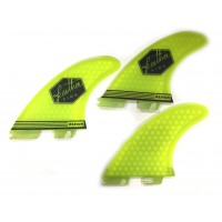 Ailerons de surf Feather Fins UltraLight ClickTab (FCS II) M (Jaune)