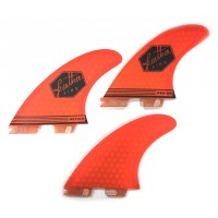 Ailerons de surf Feather Fins UltraLight ClickTab (FCS II) M (Orange)