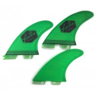 Ailerons de surf Feather Fins UltraLight ClickTab (FCS II) M (Vert)