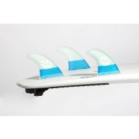 Ailerons de surf Feather Fins UltraLight FCS M (Bleu/blanc)