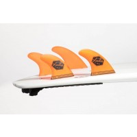 Ailerons de surf Feather Fins Quad UltraLight FCS M (Orange)