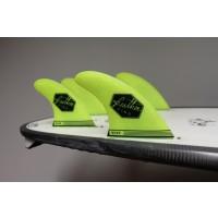 Ailerons de surf Feather Fins Quad UltraLight Futures M (Jaune)