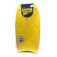 Bodyboard HB Hot Buttered Shred Tech PE Contour 40 (Jaune/Rouge)