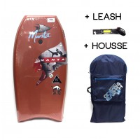Bodyboard Manta Drive PE 40 (Marron) + Leash + Housse
