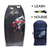 Bodyboard Manta Drive PE 38 (Noir) + Leash + Housse