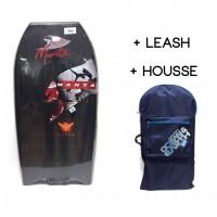 Bodyboard Manta Viper EPS 42 (Noir) + Leash + Housse