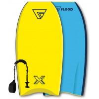 Bodyboard Flood Dynamix 37 (Jaune/Bleu) + leash