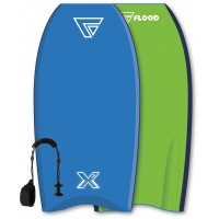 Bodyboard Flood Dynamix 40 (Bleu/Vert) + leash