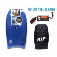 Bodyboard RIP Concept PE 38 (Bleu) + Leash + Housse