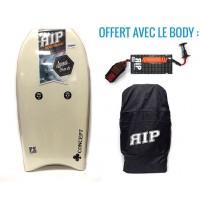 Bodyboard RIP Concept PE 42 (Blanc) + Leash + Housse