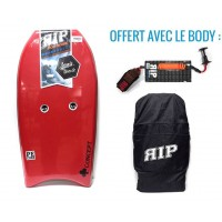 Bodyboard RIP Concept PE 42 (Rouge) + Leash + Housse